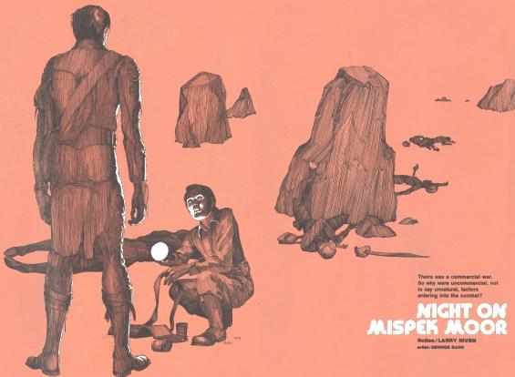 Night On Mispek Moor - illustration by George Barr