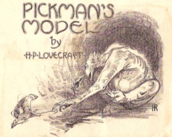 Pickman's Model - original Weird Tales illustration