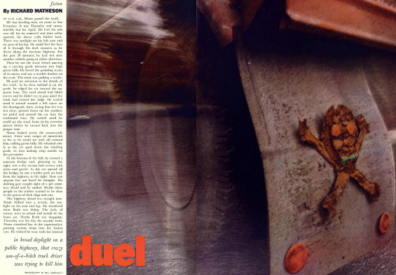 Playboy, April 1971 - Duel by Richard Matheson