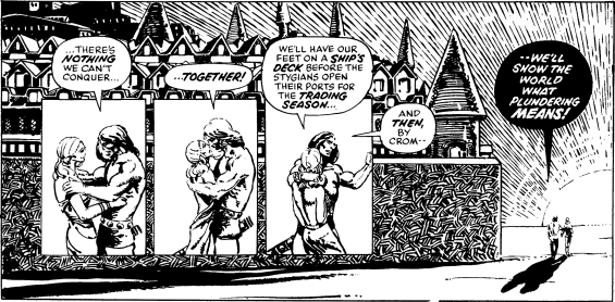 Red Nails - Ending - art by Barry Windsor-Smith
