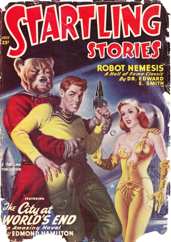 Startling Stories, July1950 COVER - The City At World's End by Edmond Hamilton