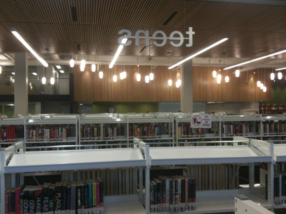 Teens section at the Coquitlam City Centre Library