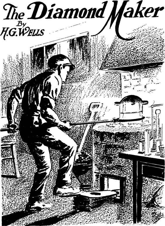 The Diamond Maker by H.G. Wells - illustration by Frank R. Paul