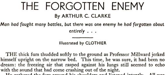 The Forgotten Enemy by Arthur C. Clarke