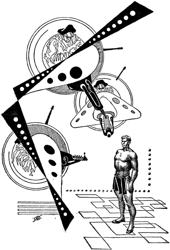 The Golden Man illustration by Frank Kelly Freas