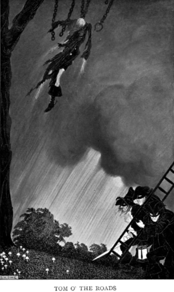 The Highwayman - illustration by Sidney H. Sime (1908)