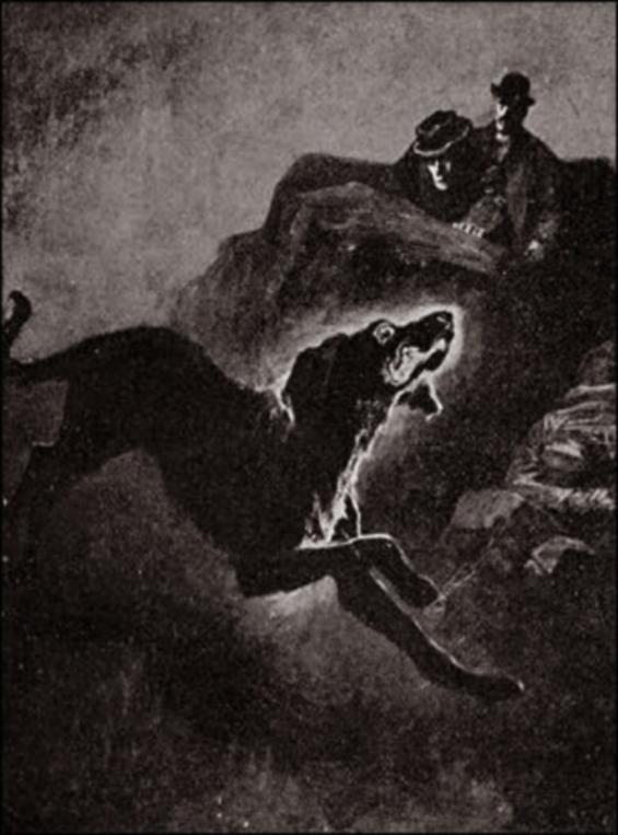 The Hound Of The Baskervilles - original  iIllustration