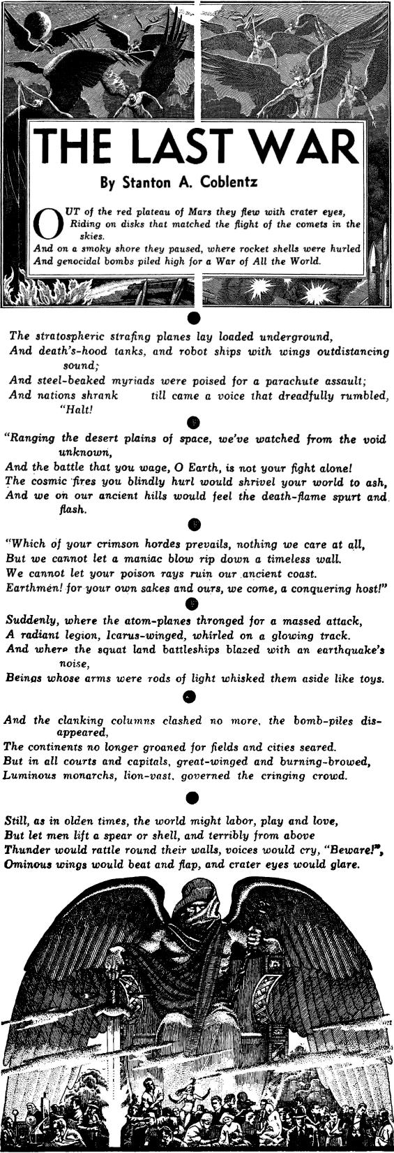 The Last War by Stanton A. Coblentz