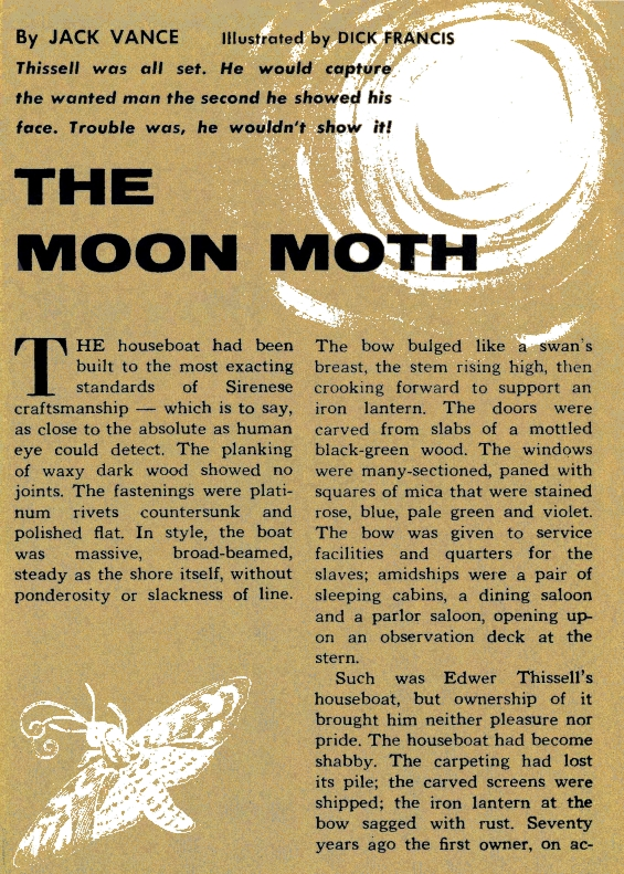 The Moon Moth by Jack Vance - illustration by Dick Francis