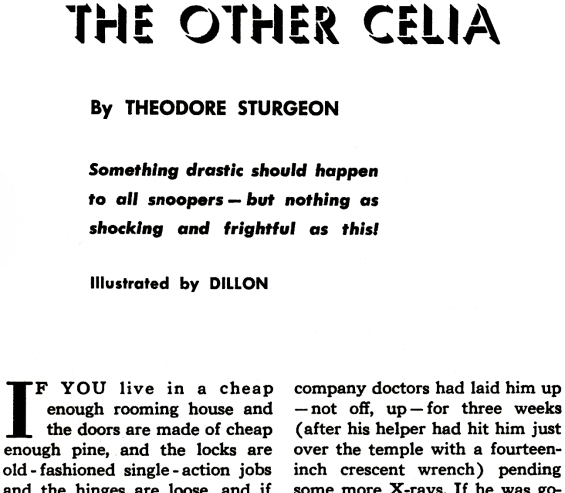 The Other Celia by Theodore Sturgeon