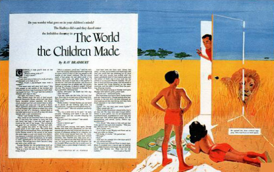 The World The Children Made - from The Saturday Evening Post, September 23, 1950 - illustration by Al Parker