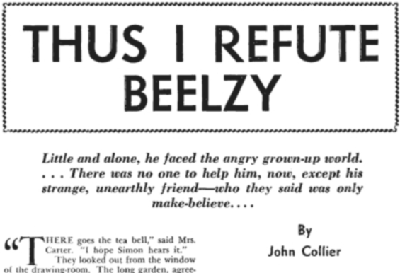 Thus I Refute Beelzy by John Collier
