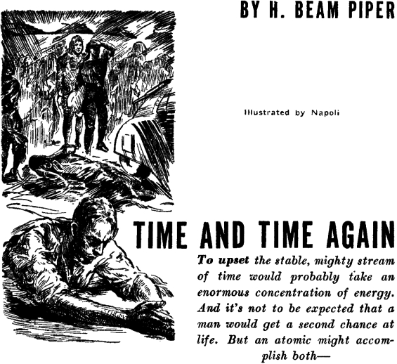 Time And Time Again by H. Beam Piper - illustrated by Vincent Napoli