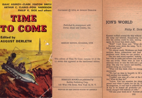 Time To Come (1954) - includes Jon's World by Philip K. Dick