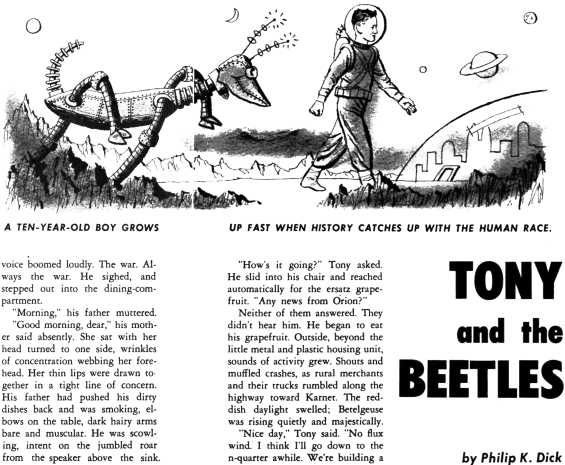 Tony And The Beetles by Philip K. Dick