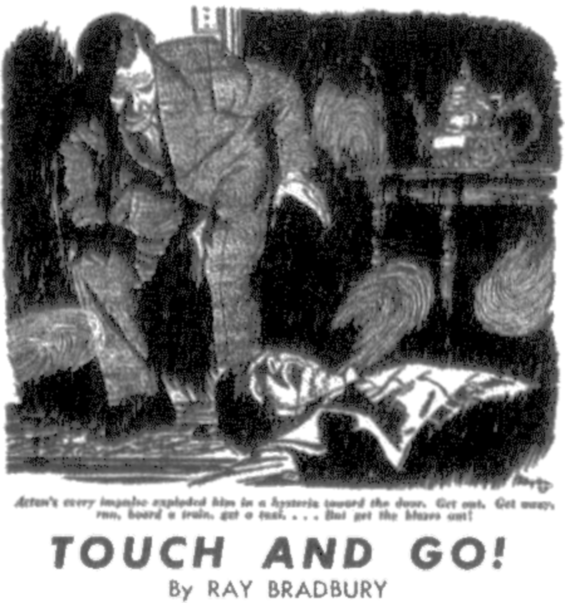 Touc And Go! by Ray Bradbury - from Detective Book, November 1948
