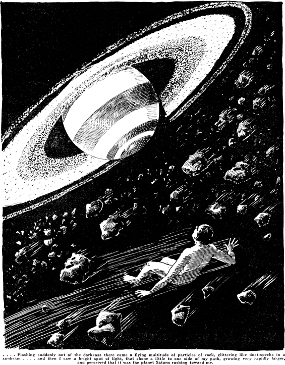 Under The Knife by H.G. Wells - Illustration from Amazing Stories