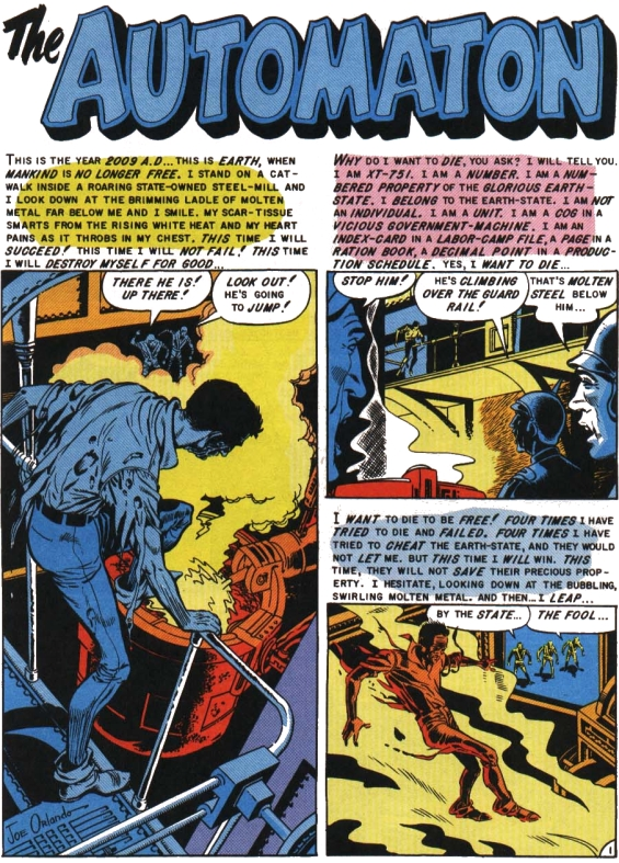 From EC Comics - Weird Fantasy #020 - The Automaton Page 1