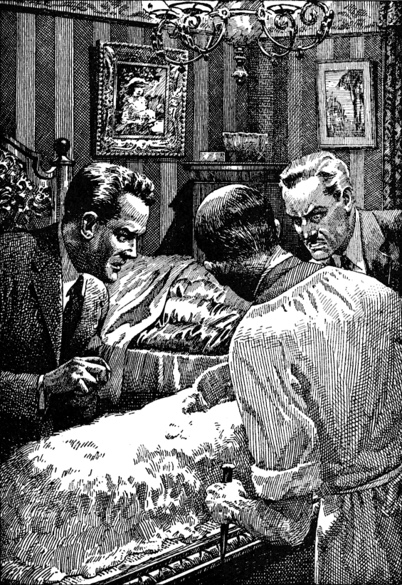 What Was It? by Fitz-James O'Brien - illustration from Famous Fantastic Mysteries, December 1949