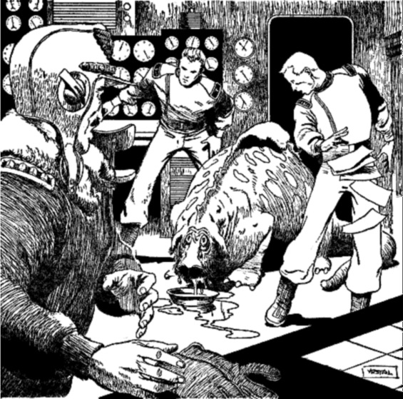 Wub illustration from Planet Stories, July 1952