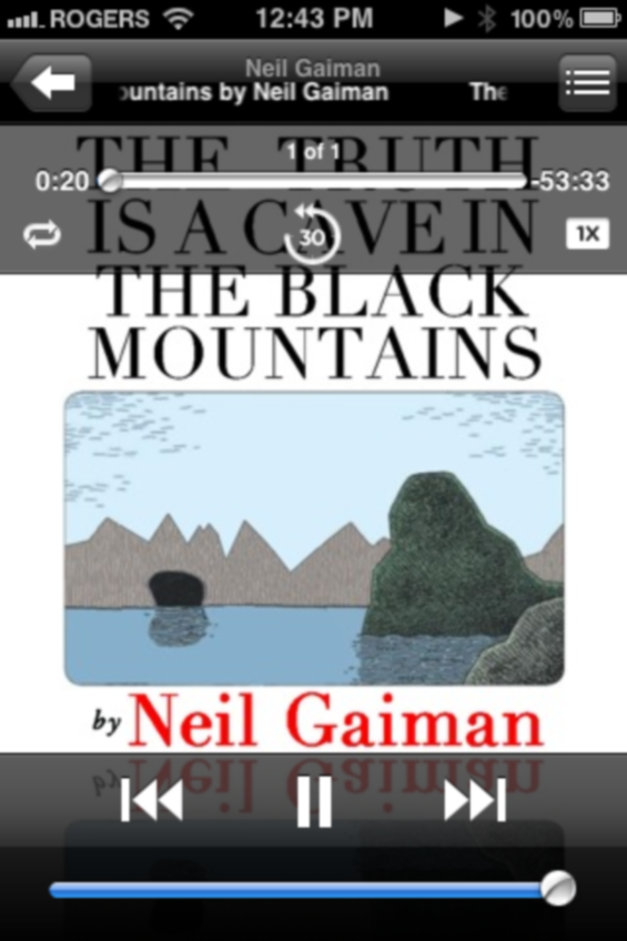 iPhone Screenshot of THE TRUTH IS A CAVE IN THE BLACK MOUNTAINS by Neil Gaiman