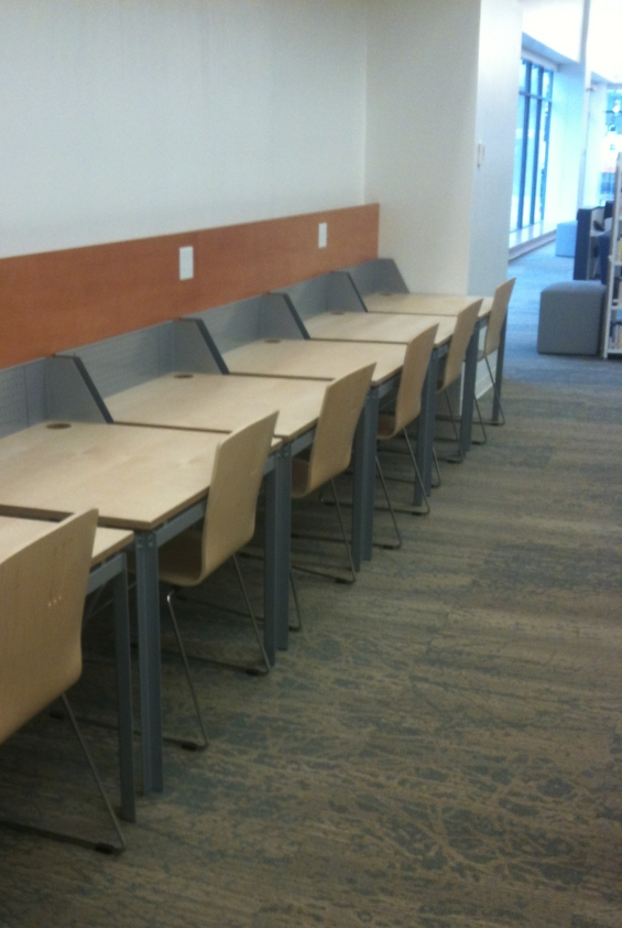 study area at the Coquitlam City Centre Library