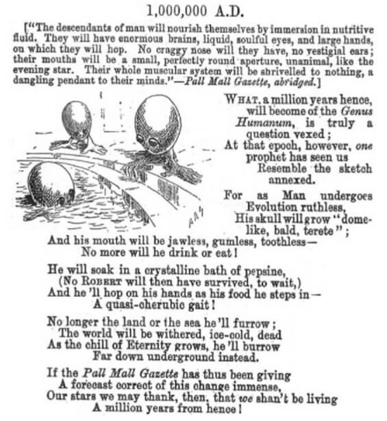 1,000,000 A.D. from Punch, November 25, 1893