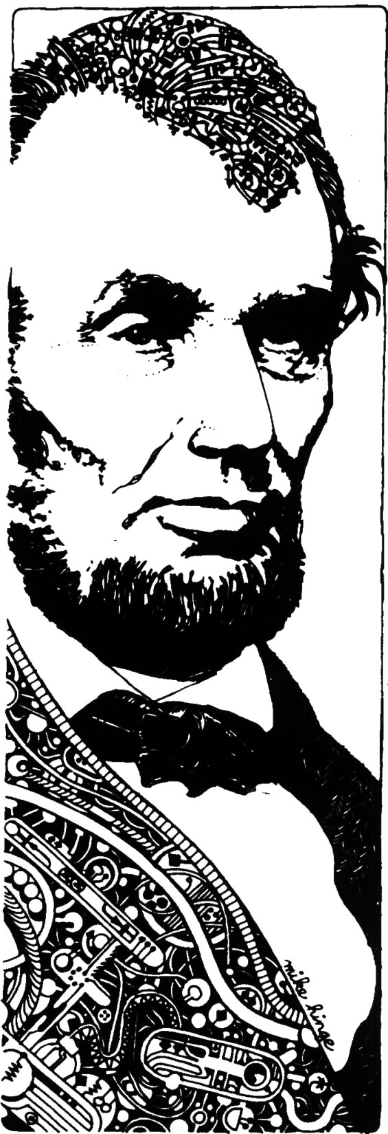 A. Lincoln, Simulacrum by Philip K. Dick - illustration by Michael Hinge