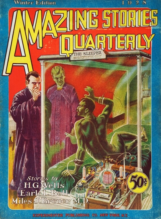 Amazing Stories Quarterly, Winter 1928 - illustration by Frank R. Paul