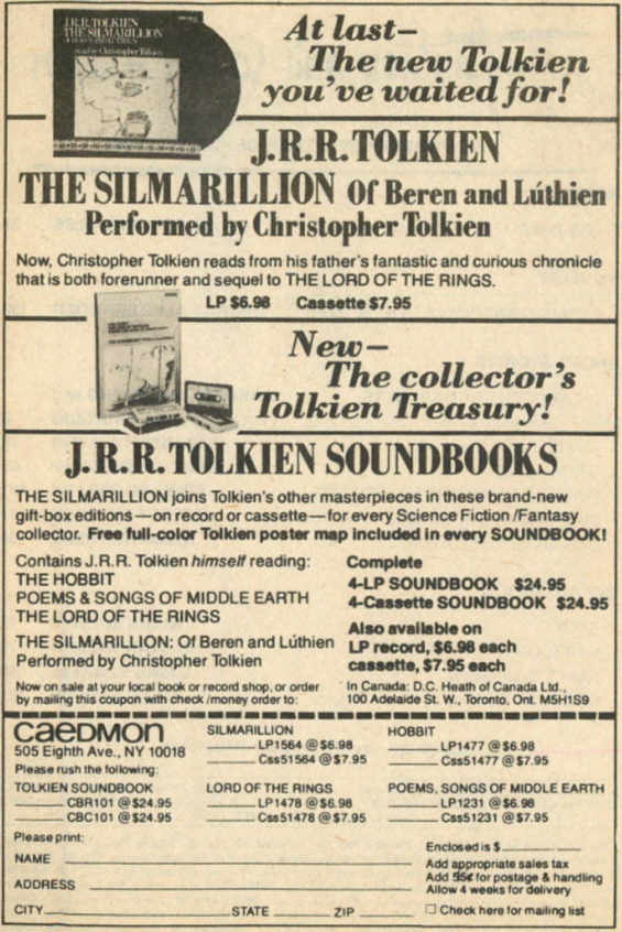 At Last The New Tolkien You've Waited For (Caedmon Audio)