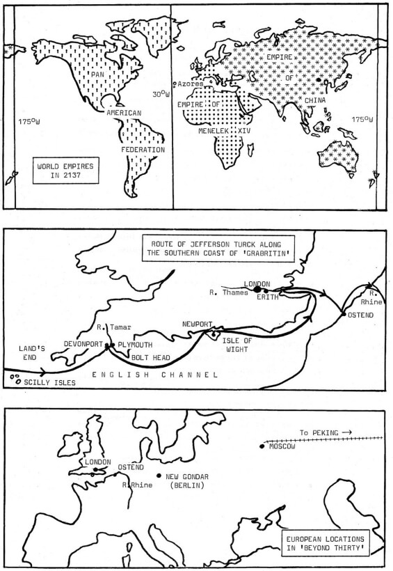BEYOND THIRTY - maps from The Fantastic Worlds Of Edgar Rice Burroughs, Spring 1985