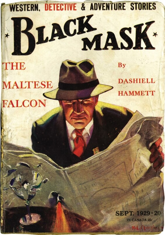 Black Mask, September 1929 - The Maltese Falcon