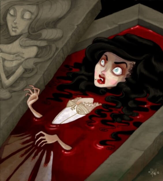 Carmilla - illustration by Lisa K. Weber