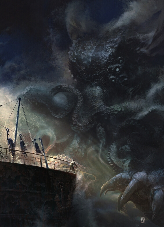 Cthulhu - illustration by Antonio De Luca