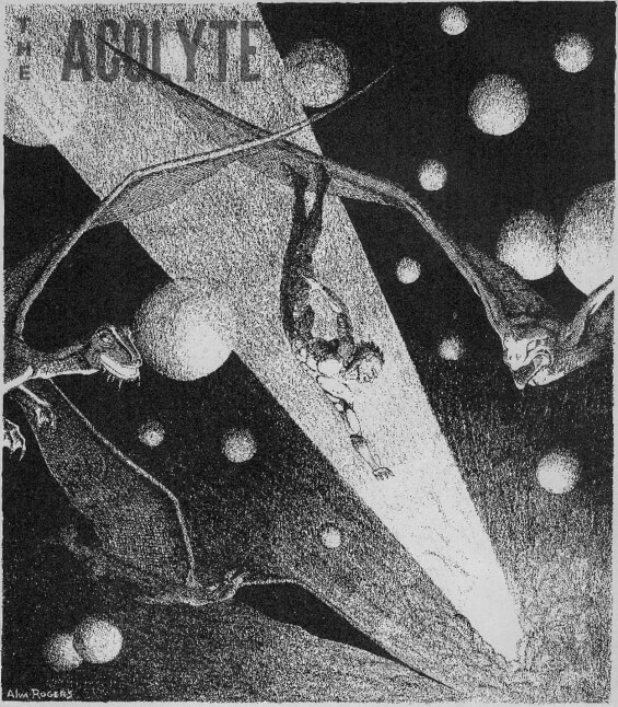 Celephais illustrated by Alva Rogers from The Acolyte, Issue 10, Spring 1945
