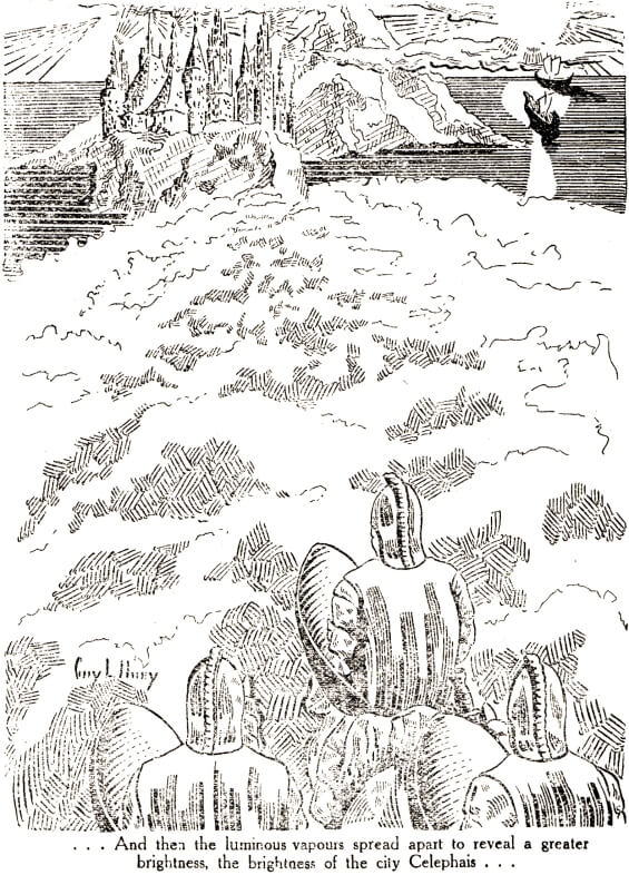 Celephais - illustration from Marvel Tales, May 1934