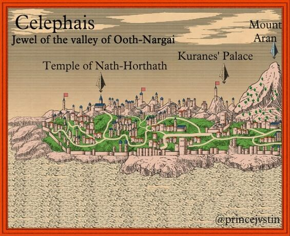 Celephais map by Paul Weimer