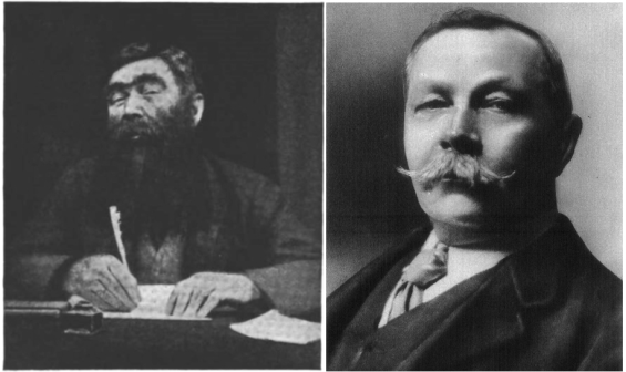 Professor Challenger and Sir Arthur Conan Doyle