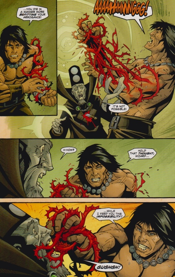 "Conan Red Sonja - page 81 ""I Feed You This Impossibility"""