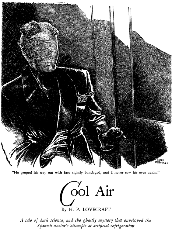 Cool Air by H.P. Lovecraft- illustration by Harry Ferman