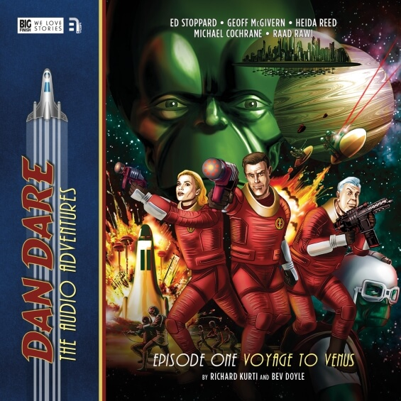 Review of Dan Dare: The Audio Adventures, Volume One: 1: Voyage To Venus, 2: The Red Moon Mystery, and 3: Marooned On Mercury