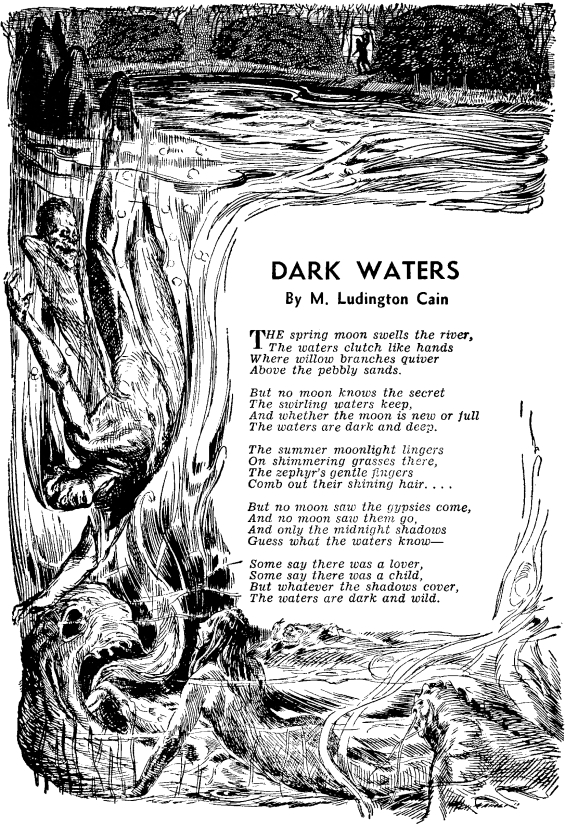 Dark Waters by M. Ludington Cain - from Famous Fantastic Mysteries, October 1947