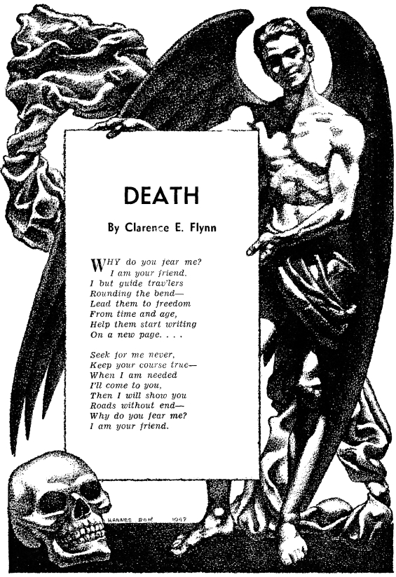 Death by Clarence E. Flynn - from Famous Fantastic Mysteries, October 1947
