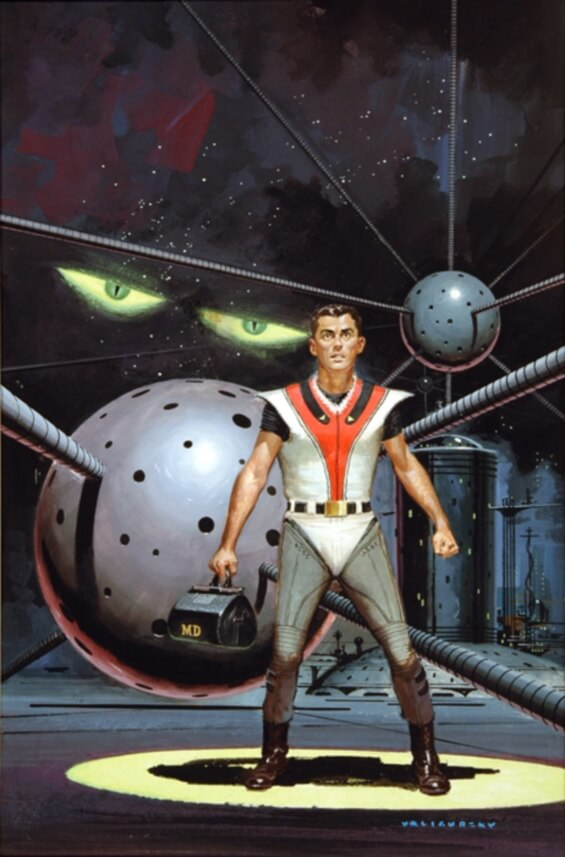 Dr. Futurity by Philip K. Dick - illustrated by Ed Valigursky