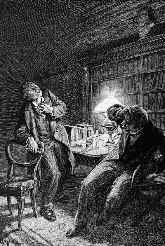 Dr. Jekyl And Mr. Hyde - Chapter 9 - The Transformation In Dr. Lanyon's Office - illustration by William Hole