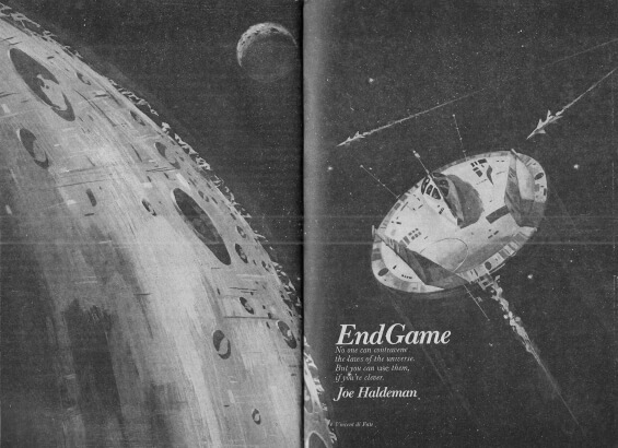 End Game by Joe Haldeman - illustration by Vincent Di Fate - Analog, January 1975