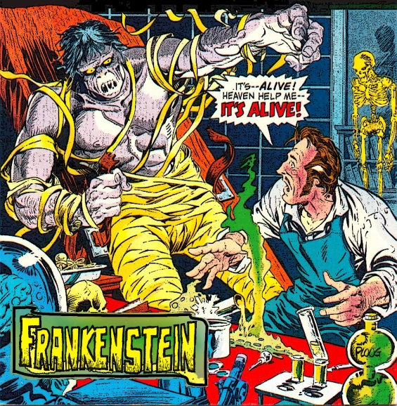 FRANKENSTEIN - It's Alive - illustration by Mike Ploog