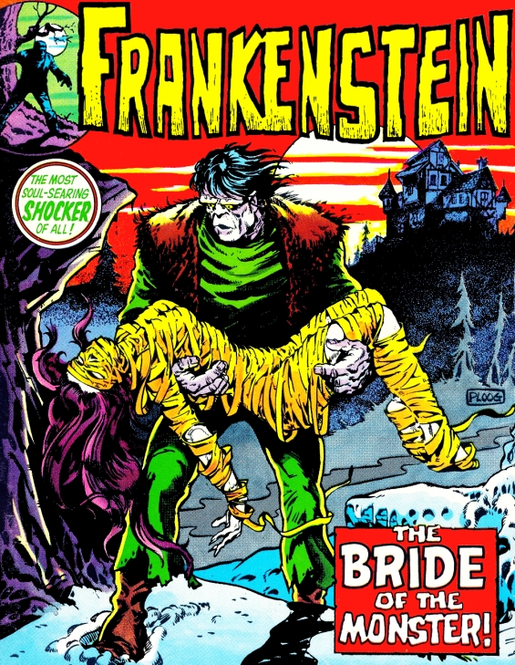 FRANKENSTEIN - The Bride Of The Monster - illustration by Mike Ploog