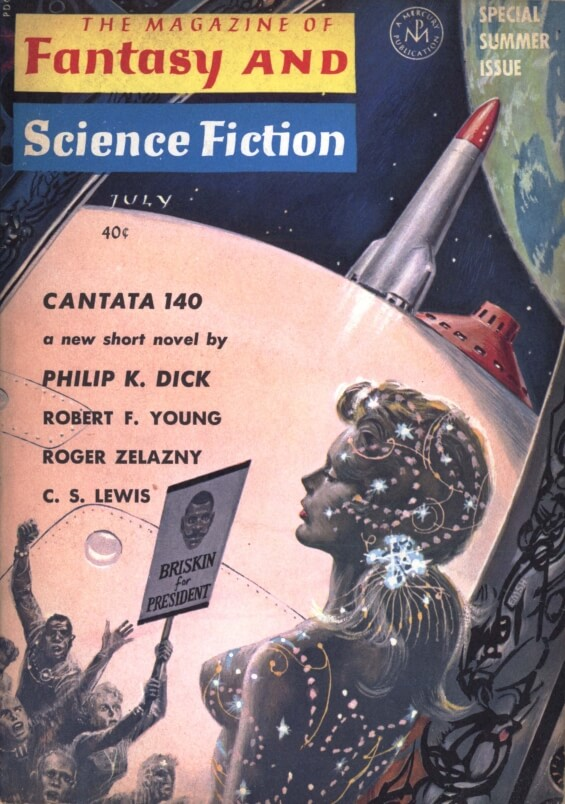 Fantasy & Science Fiction, July 1964 - Cantata 140 by Philip K. Dick - illustrated by Ed Emshwiller