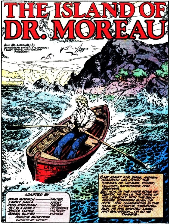 H.G.WELLS' The Island Of Dr Moreau - MARVEL